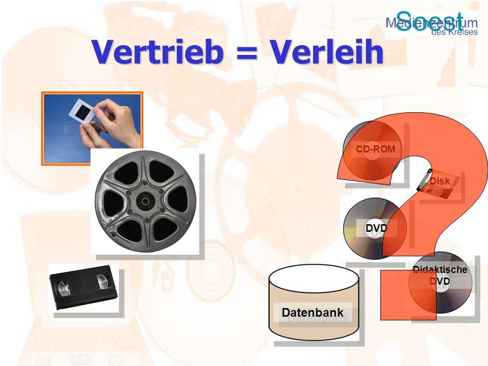 CD-ROM Disk Datenbank DVD Didaktische DVD Vertrieb = Verleih
