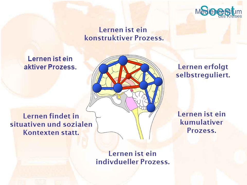 Lernen ist ein aktiver Prozess. Lernen ist ein konstruktiver Prozess. Lernen erfolgt selbstreguliert. Lernen ist ein kumulativer Prozess. Lernen ist e