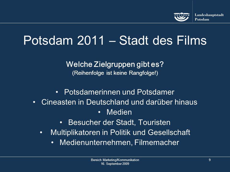 Bereich Marketing/Kommunikation 16.