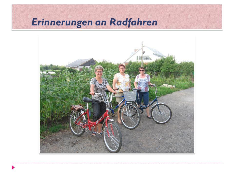 Erinnerungen an Radfahren