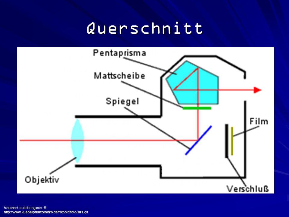 Bestandteile Vier Grundbestandteile Lichtdichtes Gehäuse mit Film Objektiv mit Glaslinsen: fokussiert Variable Blende (z.B.