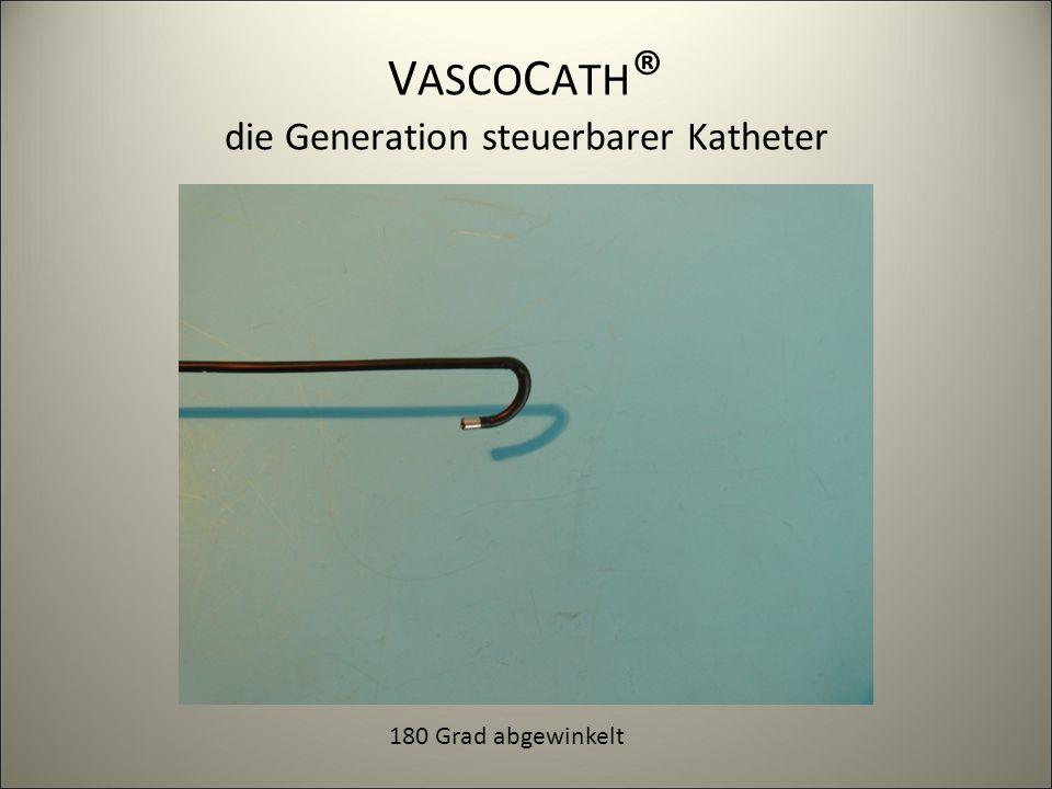 V ASCO C ATH ® die Generation steuerbarer Katheter 180 Grad abgewinkelt