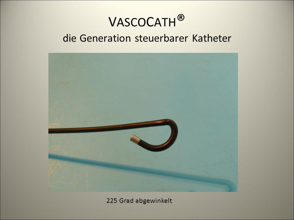 V ASCO C ATH ® die Generation steuerbarer Katheter 225 Grad abgewinkelt