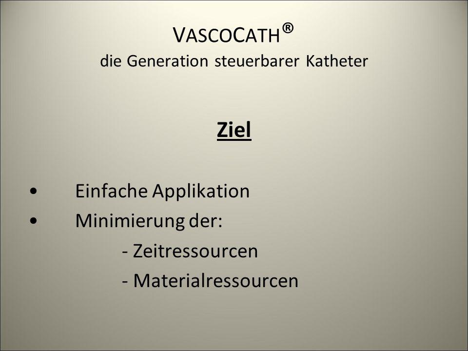 V ASCO C ATH ® die Generation steuerbarer Katheter Endovaskulärer In situ Bypass 1999 resterilisierbares, steuerbares 8F Angioskop P OLY S COPE -V ASCO C ATH Der Entwicklungsweg