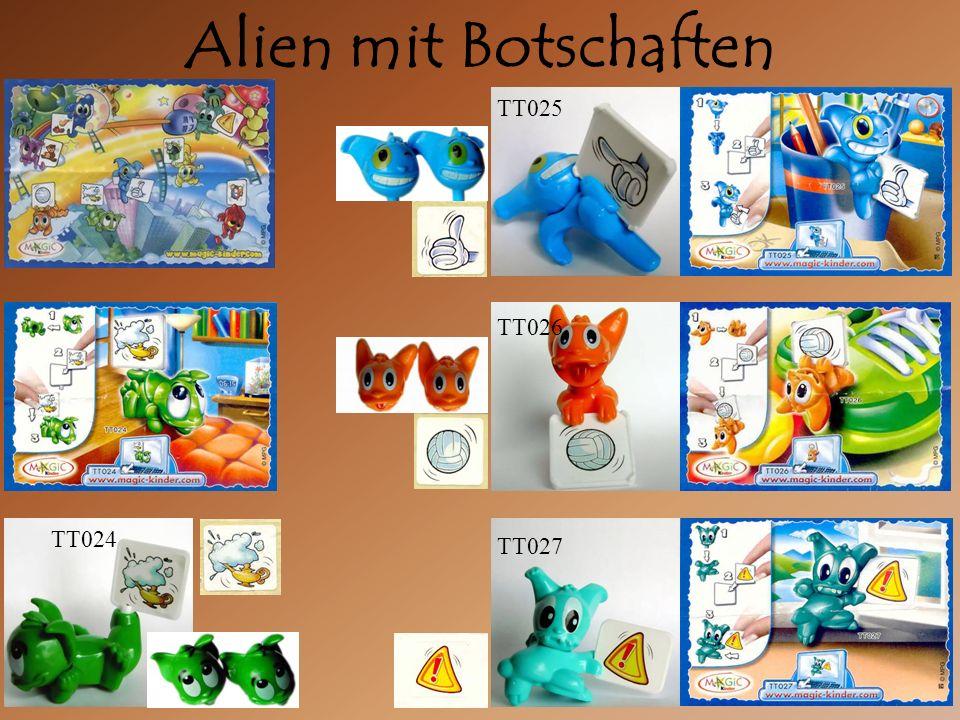 Alien mit Botschaften TT025 TT026 TT027 TT024