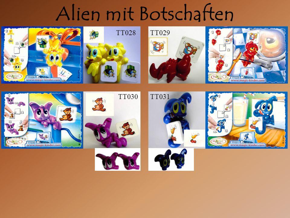 Alien mit Botschaften TT029 TT030TT031 TT028