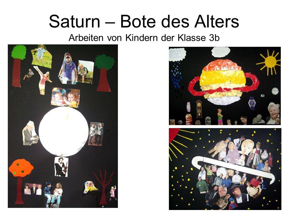 Saturn – Bote des Alters Arbeiten von Kindern der Klasse 3b
