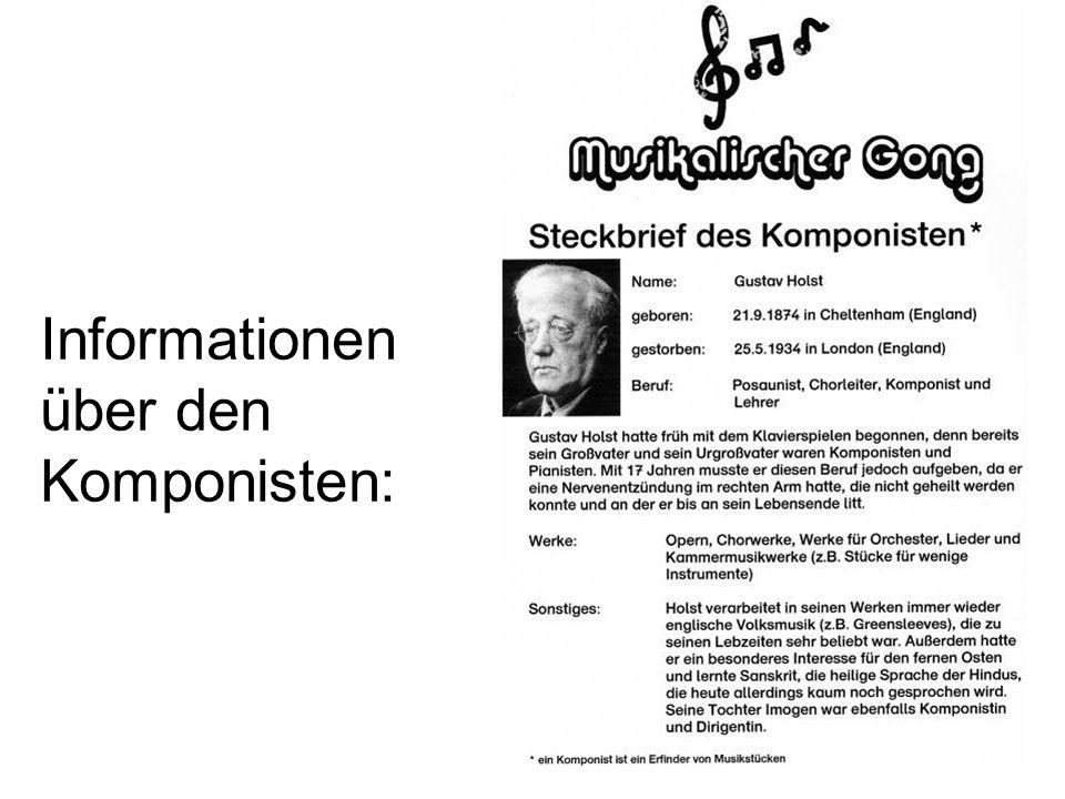 Informationen über den Komponisten: