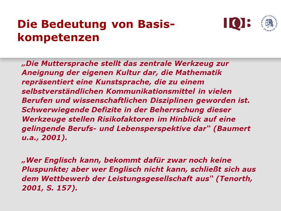 Wer Englisch kann, bekommt dafür zwar noch keine Pluspunkte; aber wer Englisch nicht kann, schließt sich aus dem Wettbewerb der Leistungsgesellschaft