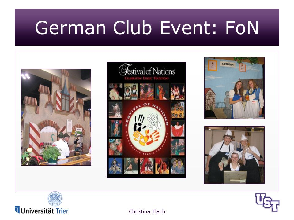 Christina Flach German Club Event: FoN