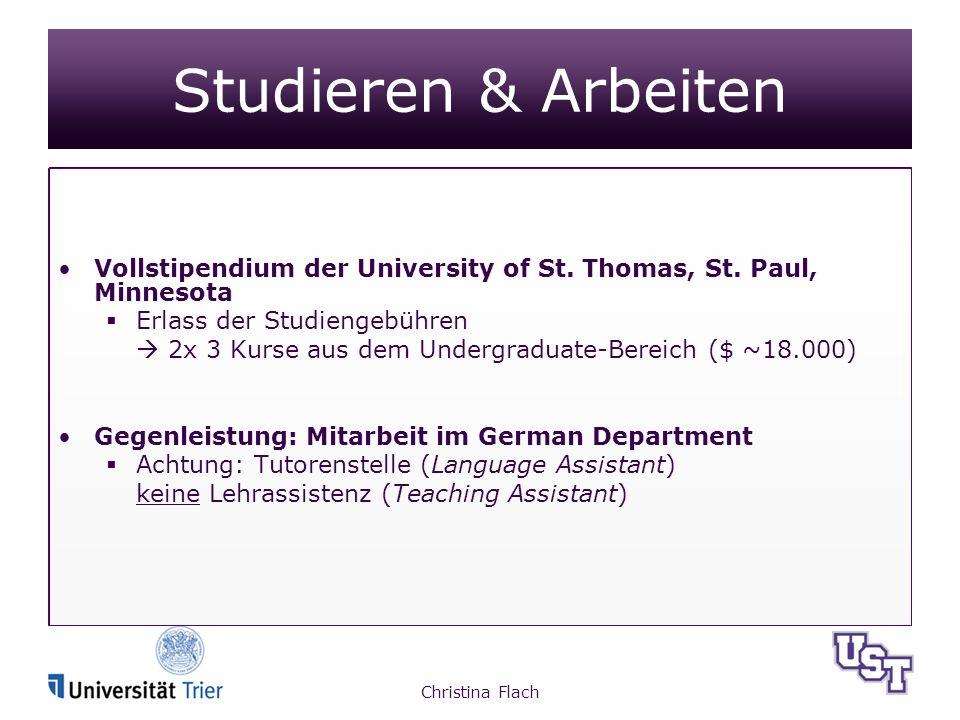 Studieren & Arbeiten Vollstipendium der University of St.