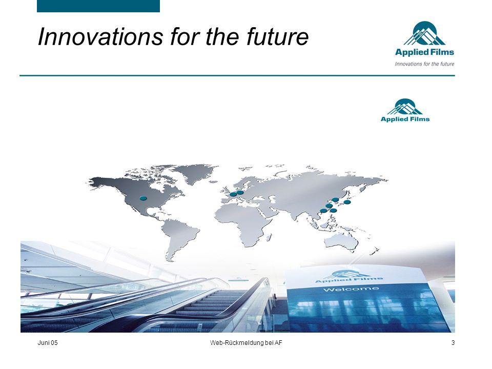 Juni 05Web-Rückmeldung bei AF3 Innovations for the future