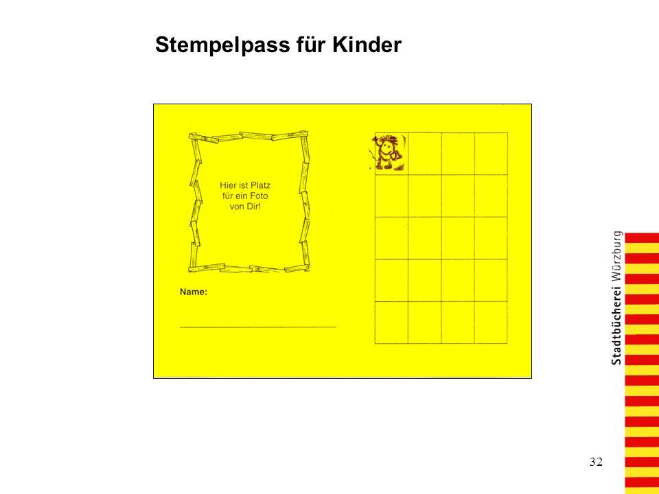 32 Stempelpass für Kinder