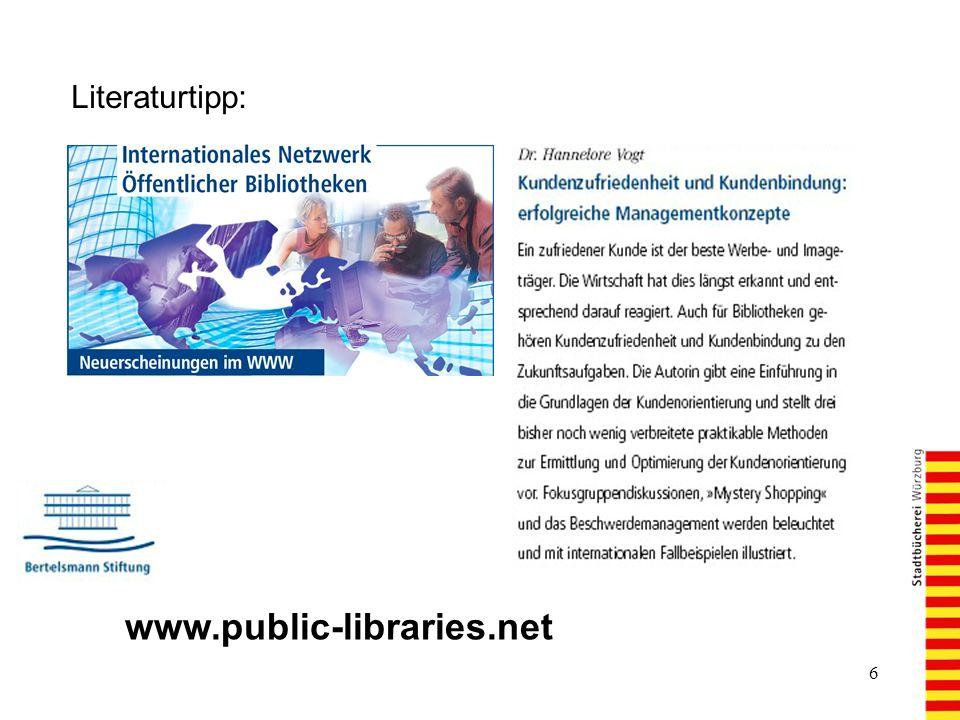 6 Literaturtipp: www.public-libraries.net