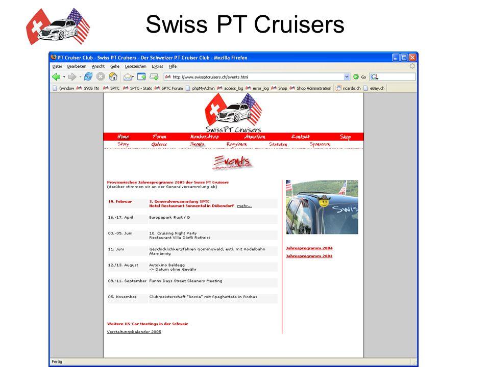 Swiss PT Cruisers Jahresprogramm 2005