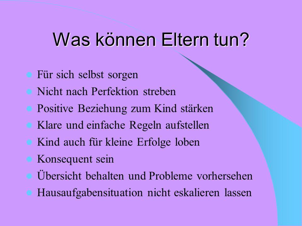 Weitere Verminderung der Probleme möglich; oder Dissoziale Verhaltensweisen verstärken sich;