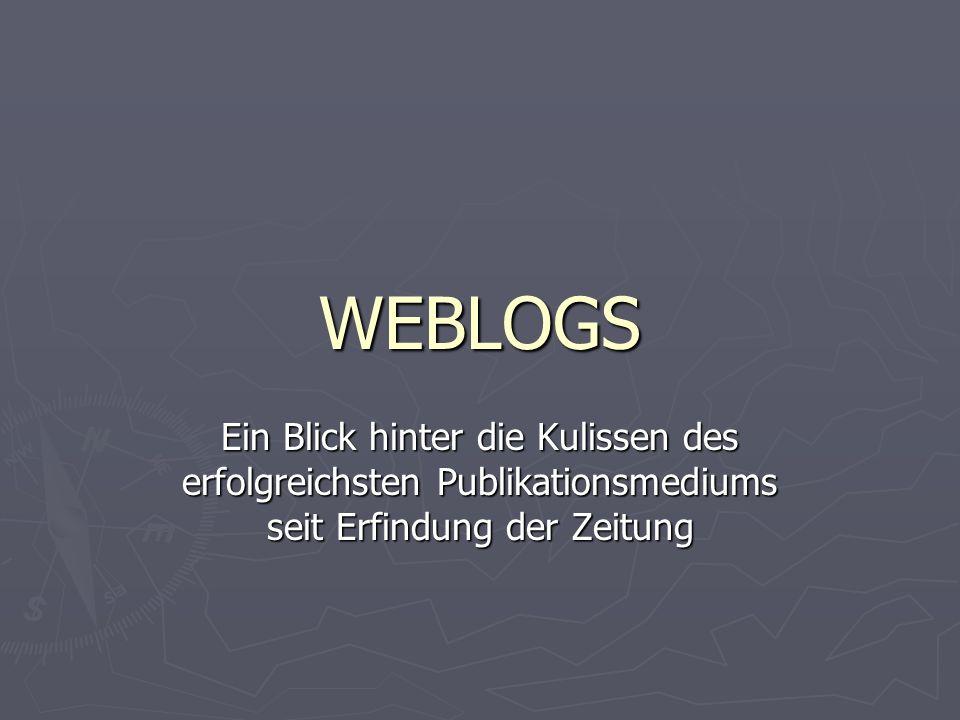 Was steht in Blogs?