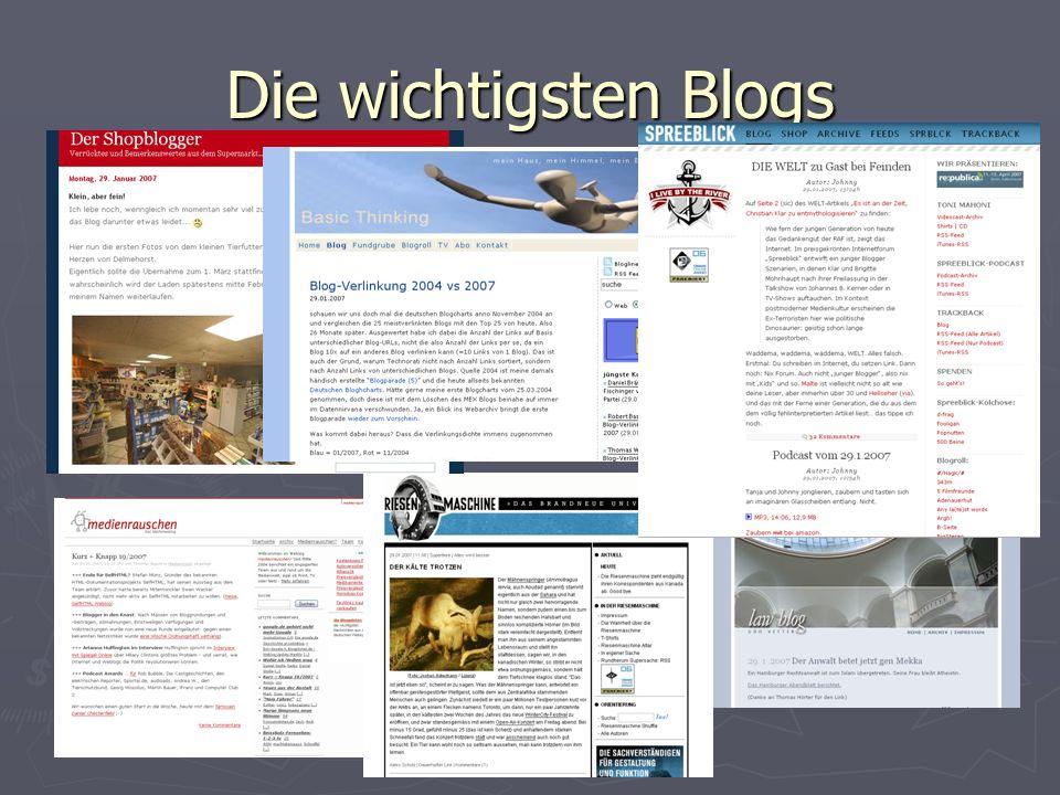 Die wichtigsten Blogs