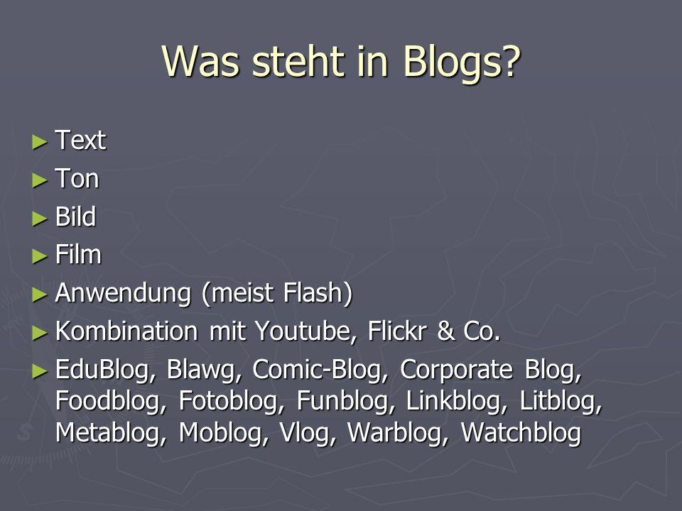 Short History Januar 1994 Justin Hall bastelt das erste Blog Links.net.