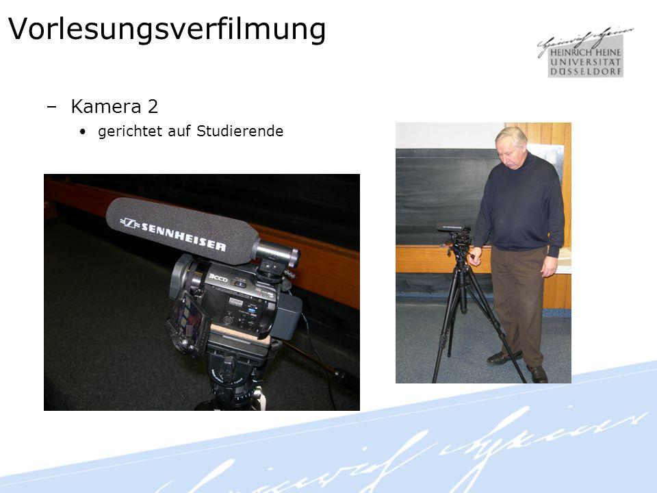 Vorlesungsverfilmung –Kamera 2 gerichtet auf Studierende