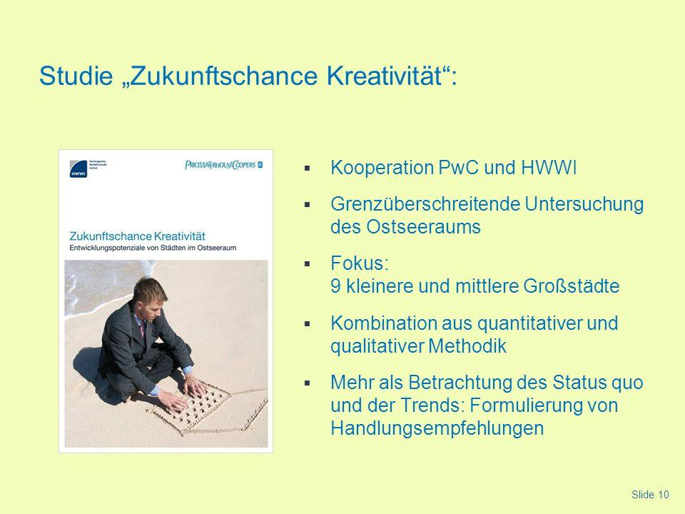 Kooperation PwC und HWWI Grenzüberschreitende Untersuchung des Ostseeraums Fokus: 9 kleinere und mittlere Großstädte Kombination aus quantitativer und