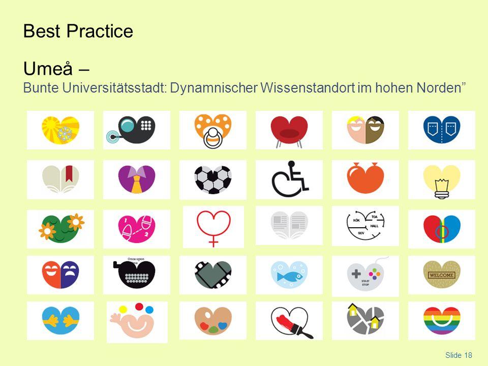 Best Practice Umeå – Bunte Universitätsstadt: Dynamnischer Wissenstandort im hohen Norden Slide 18