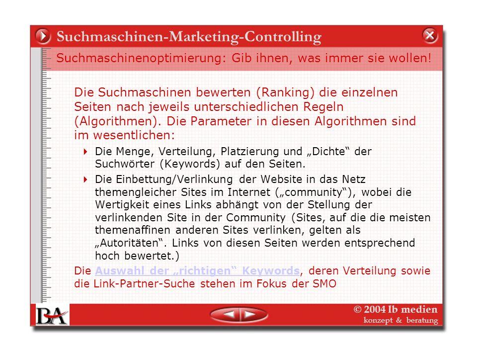 © 2004 lb medien konzept & beratung Themen auf der Reservebank Gleiche Prinzipien – Interessante Varianten – als Prototyp für Marketing für ein reines