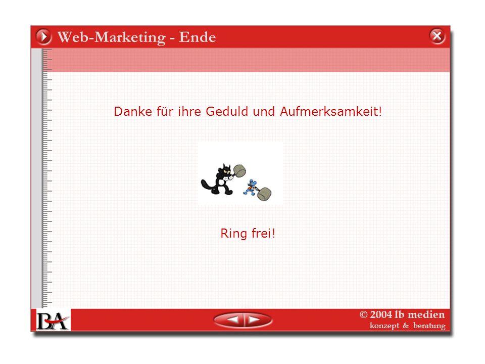 © 2004 lb medien konzept & beratung Email-Marketing-Controlling Integriert in das Verlags-Database-Marketing Die Daten in Ihrer Kunden-/Potential-Date