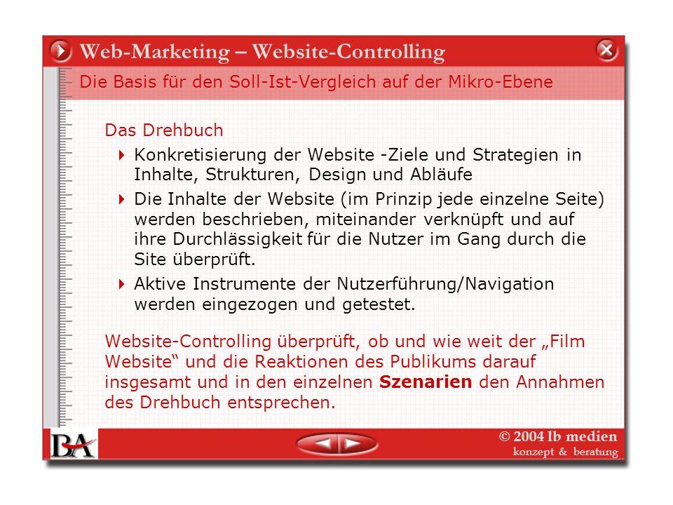 © 2004 lb medien konzept & beratung Web-Marketing – Website-Controlling Reichweite