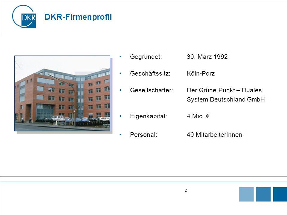 2 DKR-Firmenprofil Gegründet:30.