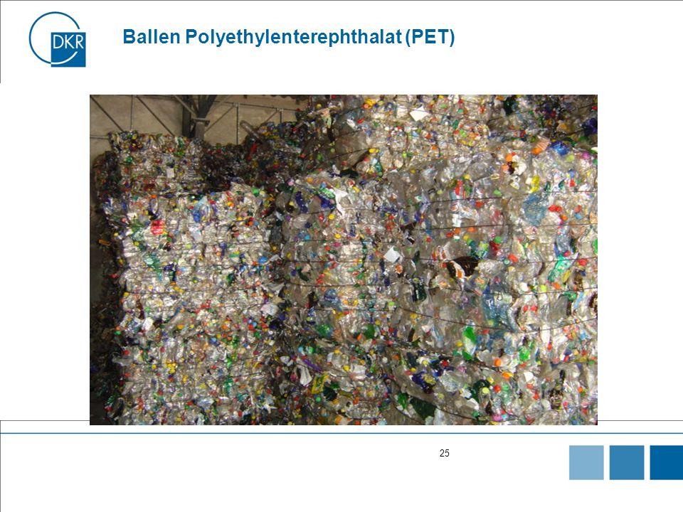 25 Ballen Polyethylenterephthalat (PET)