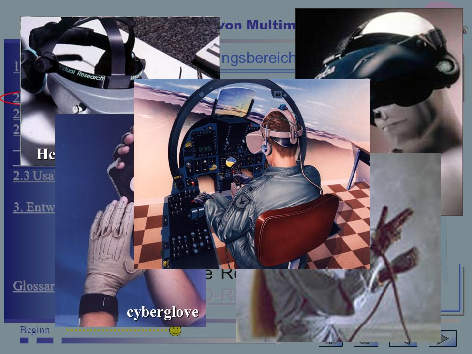 Multimedia BeginnEnde Eigenschaften und Aufbau von Multimedia-Systemen 13 1. Einführung 1. Einführung 2.0 Anwender 2.0 Anwender 2.1 Inform.arten 2.1 I