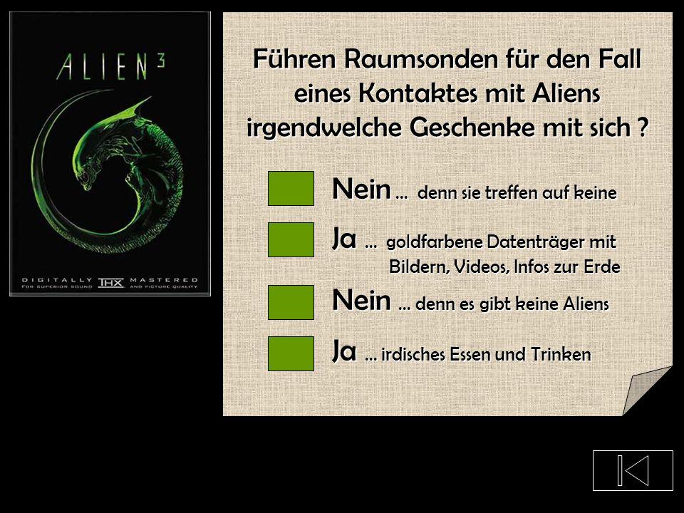 Sind die Aliens uns feindlich gesonnen ?