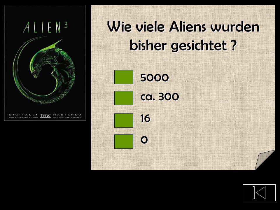 Glaubst Du das Aliens existieren ?