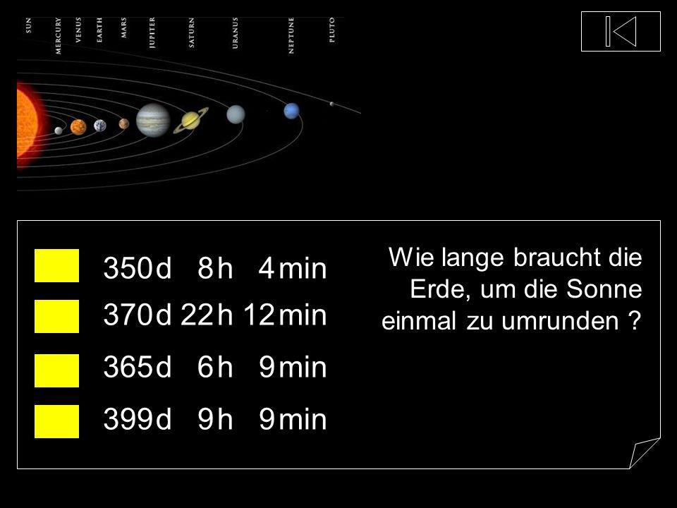 Wie viele Planeten hat unser Sonnensystem ? 13 8 5 2