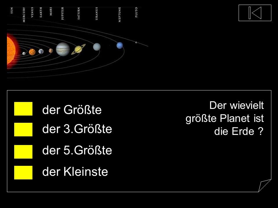 Welcher Planet ist der Kleinste ? Erde Uranus Merkur Saturn