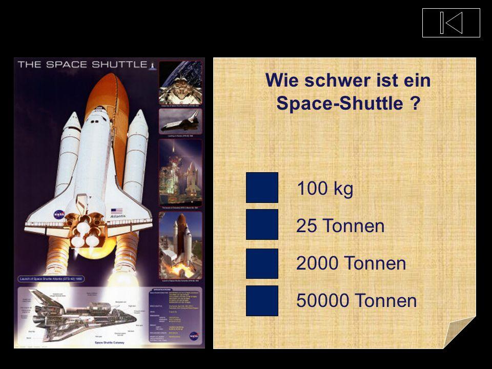 Welches Land hat jahrzehntelang Space Shuttle betrieben ? Deutschland Schweiz USA Russland