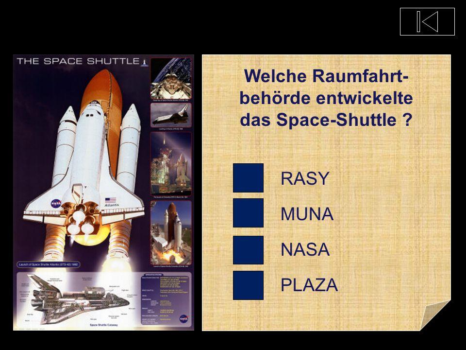 Wie groß ist ein Space-Shuttle ? 50 m 800 m 5 cm 3 m