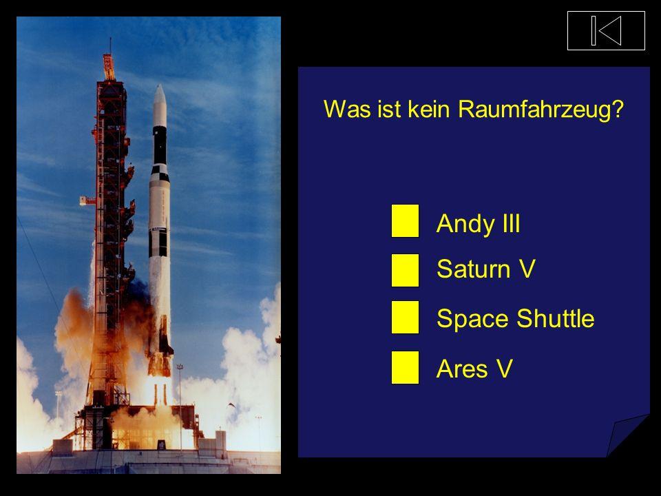 Wie viele Raketenstufen hat die Saturn V? 2 10 33 3