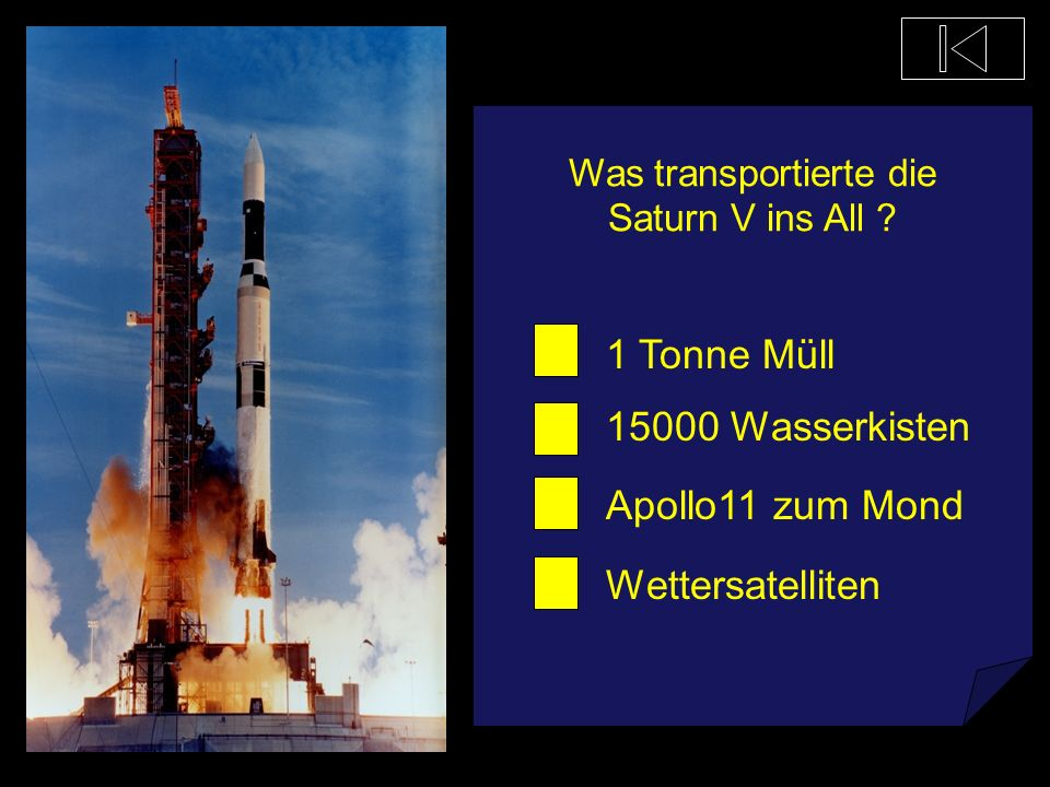 Was ist kein Raumfahrzeug? Andy III Saturn V Space Shuttle Ares V