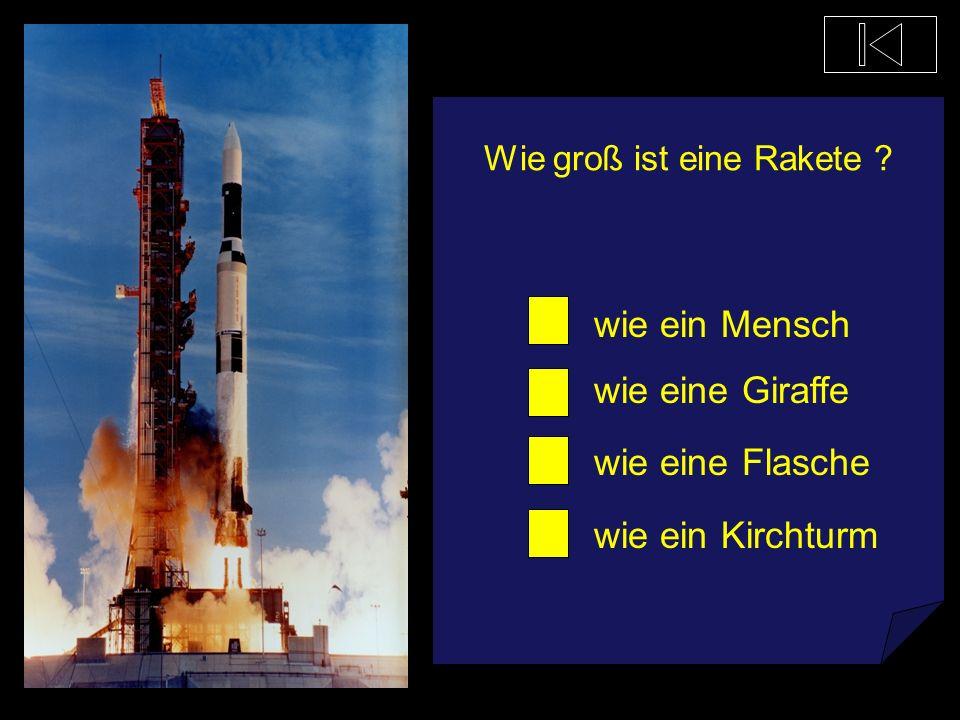 Was treibt unsere kleinen Raketen an Wasser Bier Cola Raketentreibstoff
