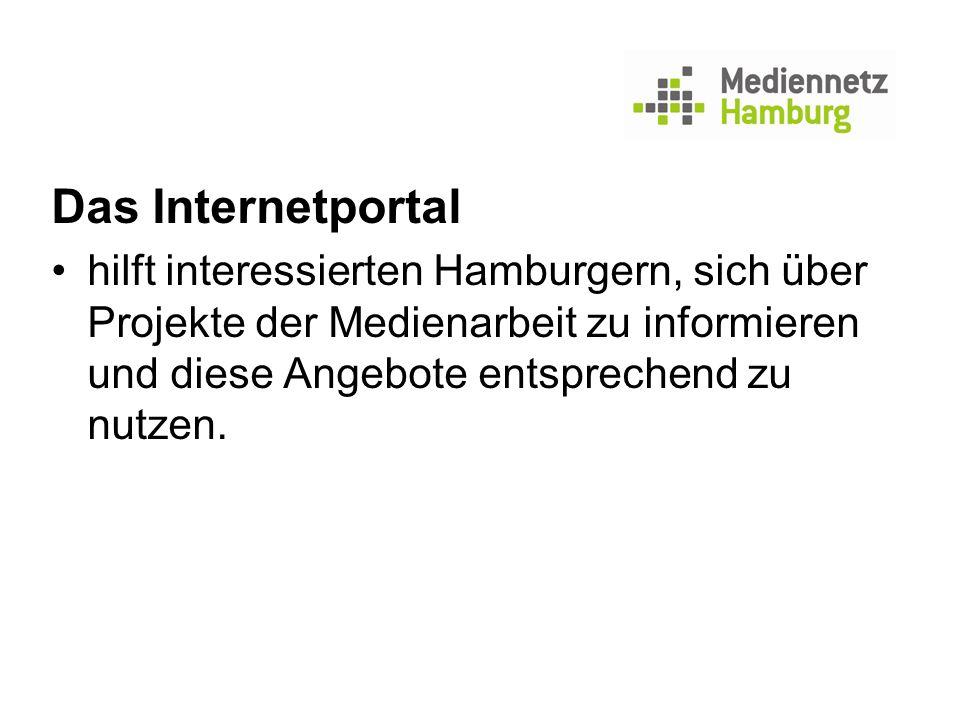 Das Internetportal hilft interessierten Hamburgern, sich über Projekte der Medienarbeit zu informieren und diese Angebote entsprechend zu nutzen.