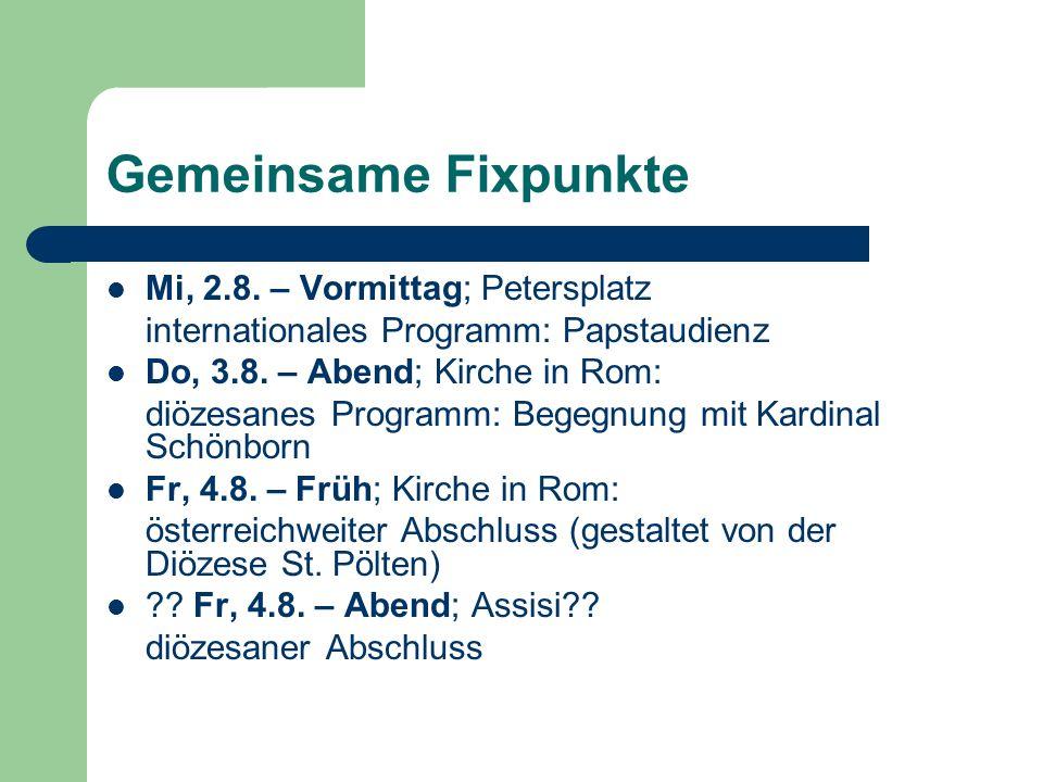 Gemeinsame Fixpunkte Mi, 2.8.