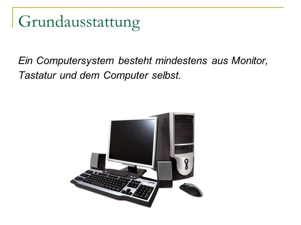 Das Innere eines Computers Öffnet man den Computer findet man ein Netzteil, das Motherboard, Laufwerke, Steckkarten und Kabel.
