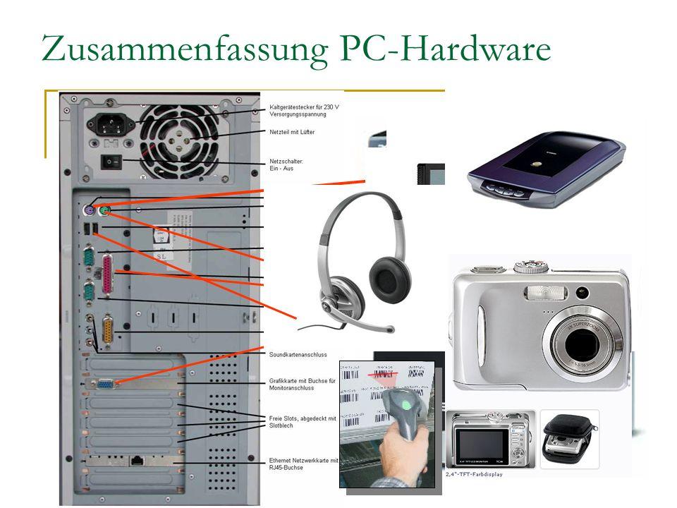 Zusammenfassung PC-Hardware