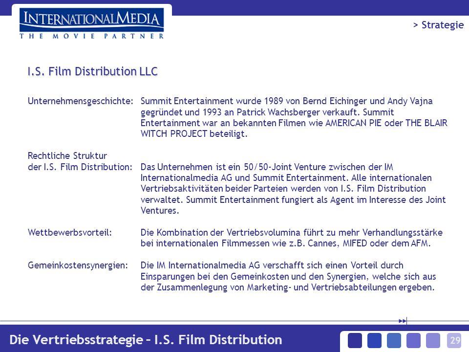 29 Unternehmensgeschichte:Summit Entertainment wurde 1989 von Bernd Eichinger und Andy Vajna gegründet und 1993 an Patrick Wachsberger verkauft.