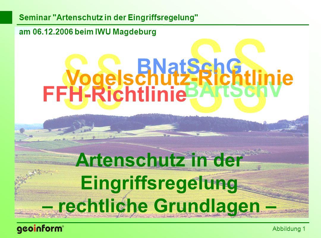 Abbildung 62 Befreiung nach § 62 BNatSchG Europäische Vogelarten Arten der EG-Artenschutz- verordnung Arten der Bundesarten- schutz-VO Arten des Anhangs IV der FFH-Richtlinie Verbote gemäß § 42 BNatSchG Verbote gemäß Art 5 VRL Verbote gemäß Art.