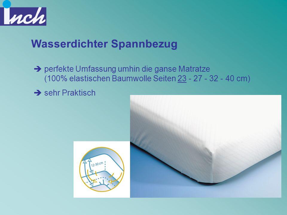 Wasserdichter Spannbezug perfekte Umfassung umhin die ganse Matratze (100% elastischen Baumwolle Seiten 23 - 27 - 32 - 40 cm) sehr Praktisch