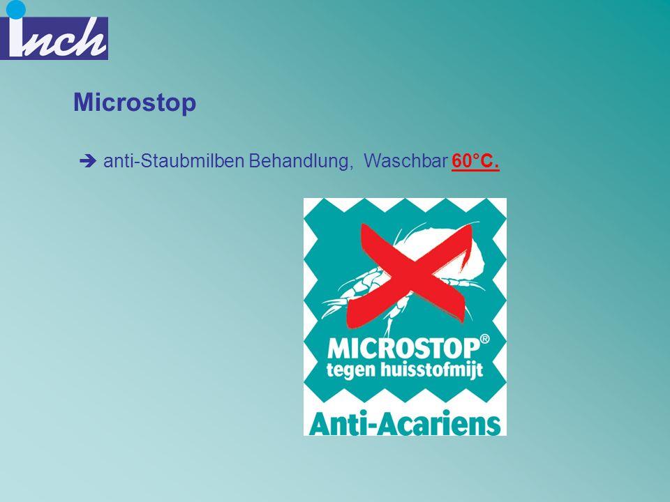 Microstop anti-Staubmilben Behandlung, Waschbar 60°C.