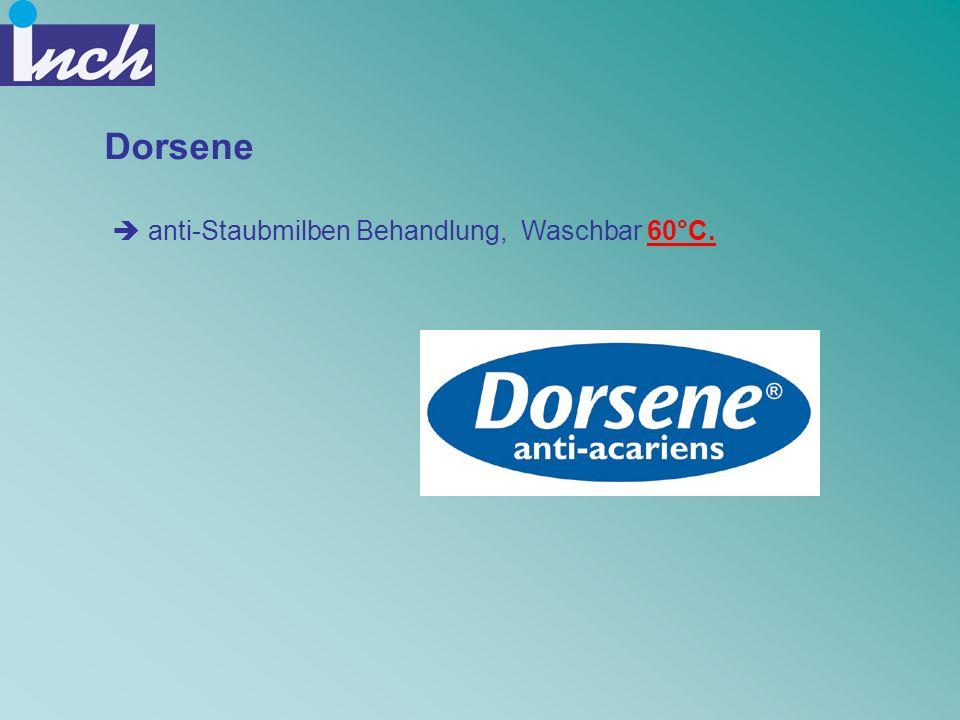 Dorsene anti-Staubmilben Behandlung, Waschbar 60°C.